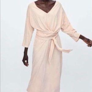 Zara midi length bow dress